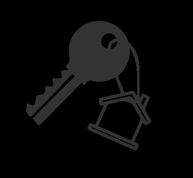 Icône clef maison
